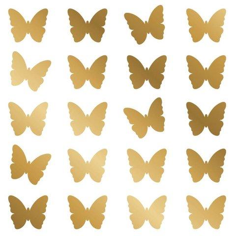Nouvelles Images muurstickers vlinders goud