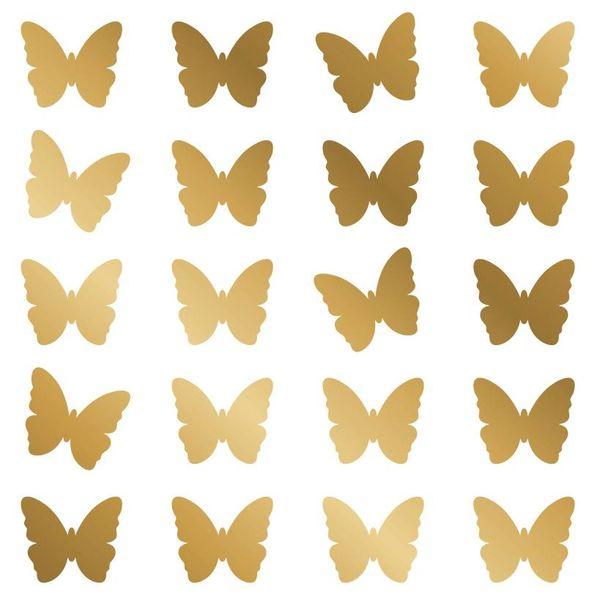 Nouvelles Images Nouvelles Images muurstickers vlinders goud