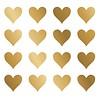 Nouvelles Images muurstickers hartjes goud
