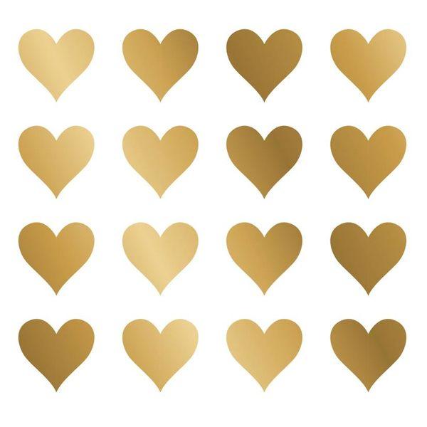 Nouvelles Images Nouvelles Images muurstickers hartjes goud