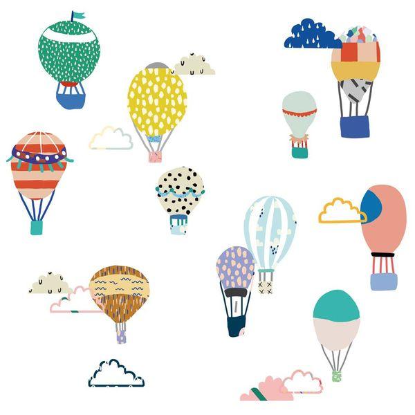 Mimi'lou Mimilou mini muurstickers kinderkamer  luchtballonnen