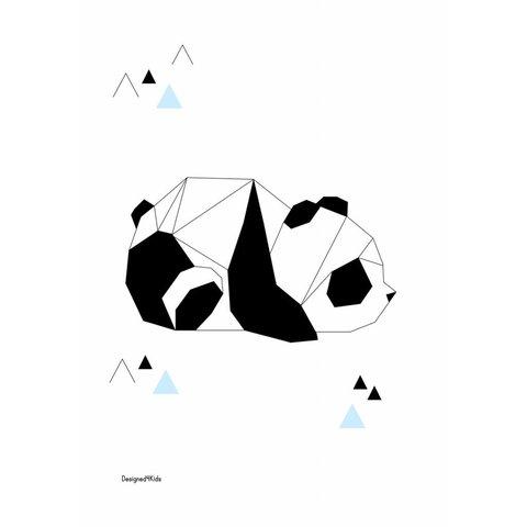 Designed4Kids poster A3 panda  origami
