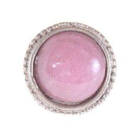 La Finesse La Finesse kastknopje roze met metalen frame