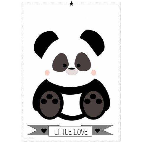 Designed4Kids poster A3 panda  zwart wit