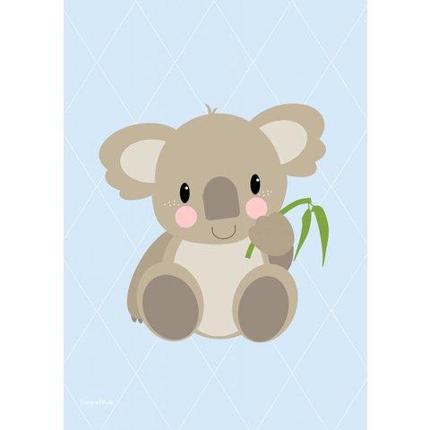 Designed4Kids poster A3 koala beer