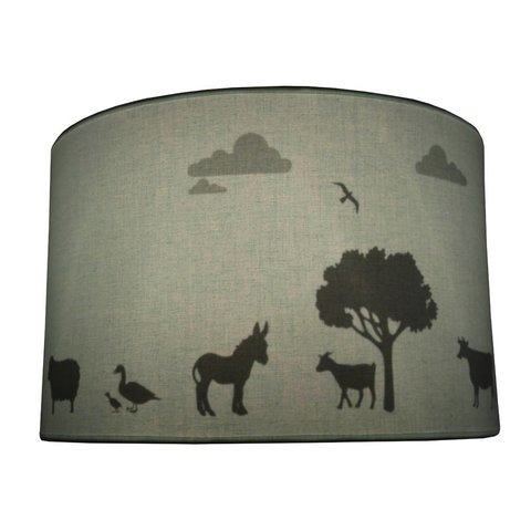 Juul Design kinderlamp silhouette boerderij mint