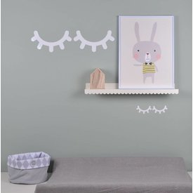 Eina Design Muursticker Sleepy Eyes wit