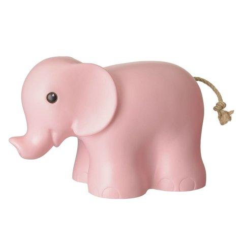 Figuurlamp olifant roze