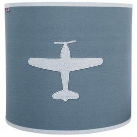 Taftan Taftan wandlamp vliegtuig grijs blauw