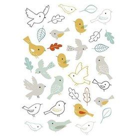 Lilipinso Lilipinso muursticker vogeltjes