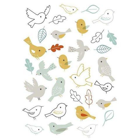 Lilipinso muursticker vogeltjes