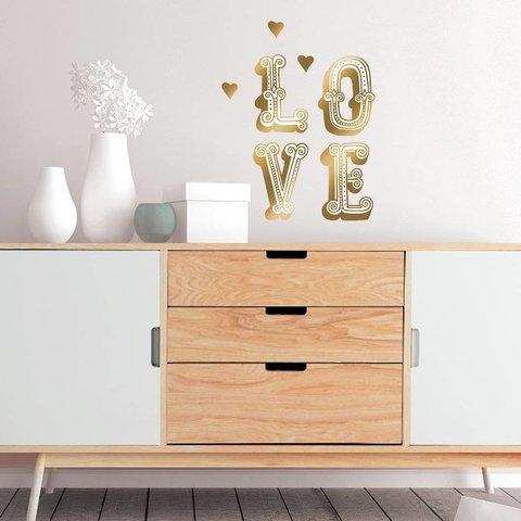 Nouvelles Images muursticker LOVE goud