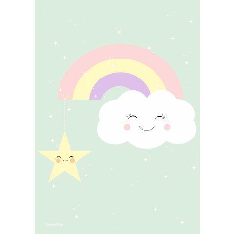 Designed4Kids poster wolk en regenboog