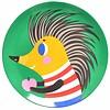 Petit Monkey melamine kinderbord egel groen