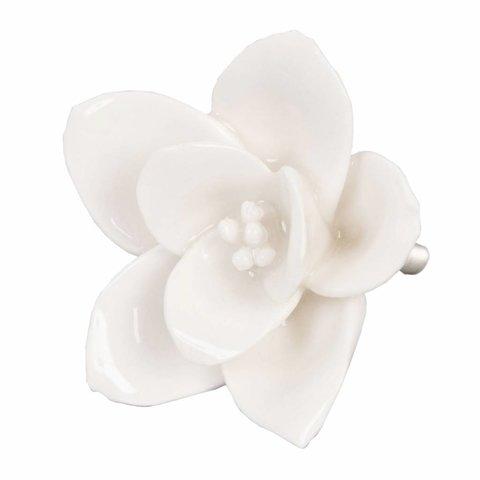 Deurknop porselein bloem creme