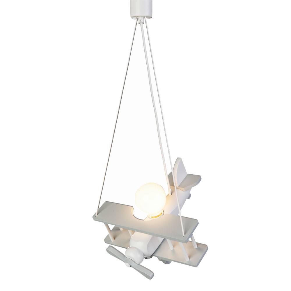 Bekend Hanglamp kinderkamer vliegtuig grijs/wit | Kidzsupplies RL77
