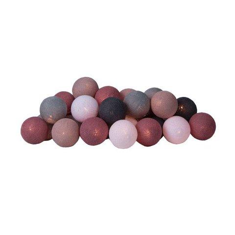 Cotton Ball Lights lichtslinger roze Dirty Rose USB