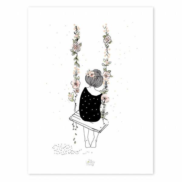 Lilipinso Lilipinso poster meisje op schommel