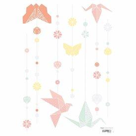 Lilipinso Lilipinso muursticker origami  pastel