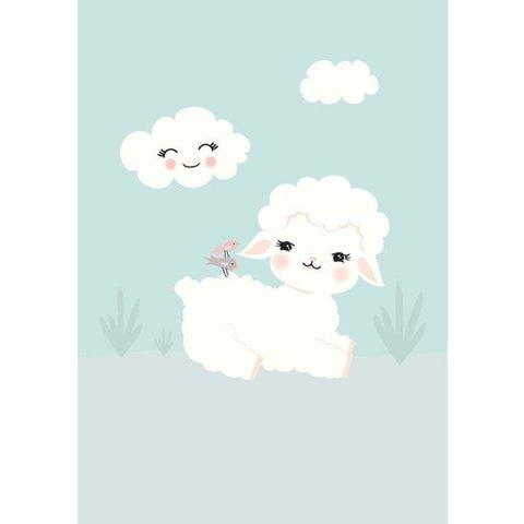 Kinderposter A3 konijn lam Wooly