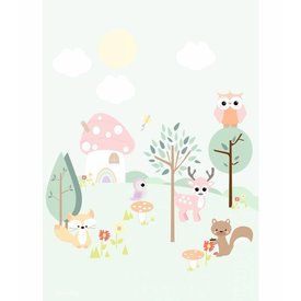 Designed4Kids Designed4Kids poster Forest Friends pastel