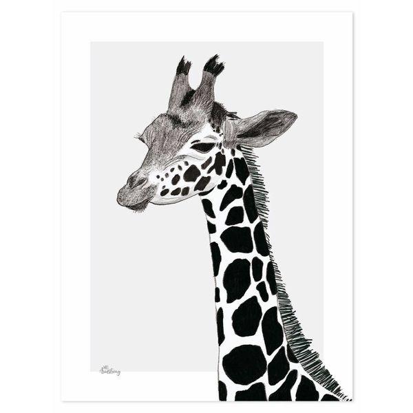 Lilipinso Lilipinso kinderposter Serengeti giraffe