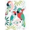 Lilipinso muursticker kinderkamer papegaaien