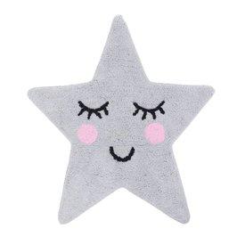 Sass & Belle Kindervloerkleed ster grijs Sweet Dreams mini