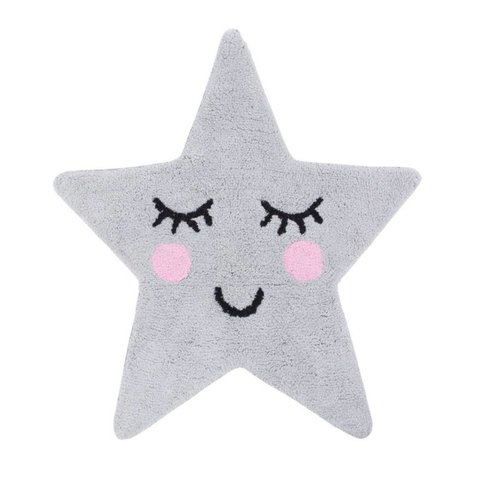 Kindervloerkleed ster grijs Sweet Dreams mini