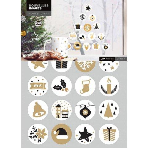 Nouvelles Images raamsticker kerst symbolen