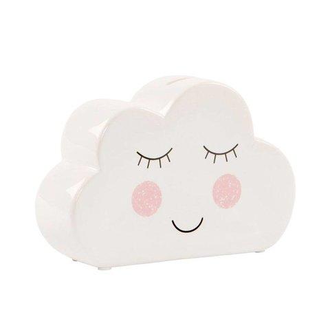 Sass & Belle spaarpot wolk wit
