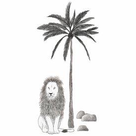 Lilipinso Lilipinso muursticker leeuw en palm