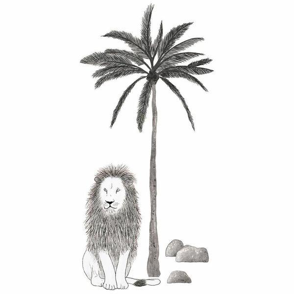 Lilipinso Lilipinso muursticker kinderkamer leeuw en palm