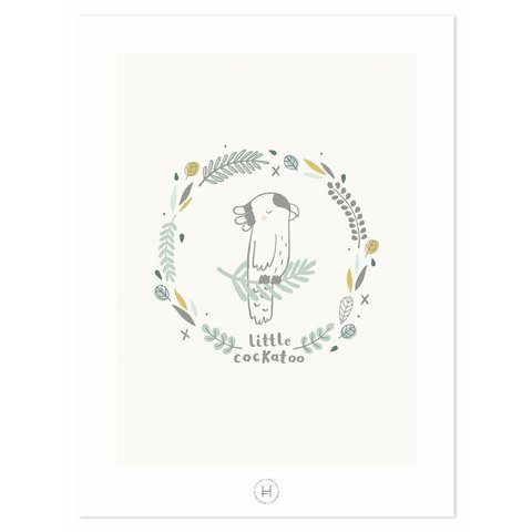 Lilipinso poster kinderkamer kaketoe