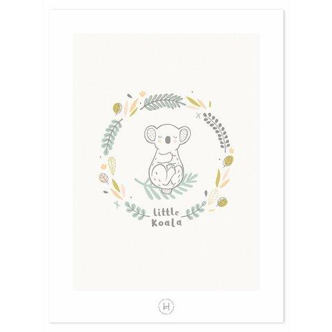 Lilipinso poster kinderkamer koala beer