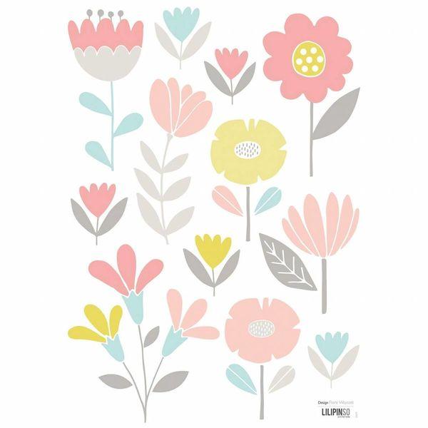 Lilipinso Lilipinso muursticker kinderkamer bloemen