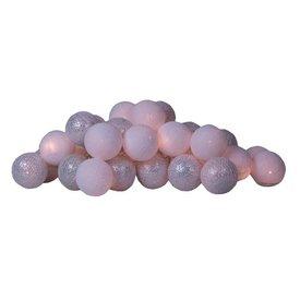 Cotton Ball Lights Cotton ball lights lichtslinger zilver & wit