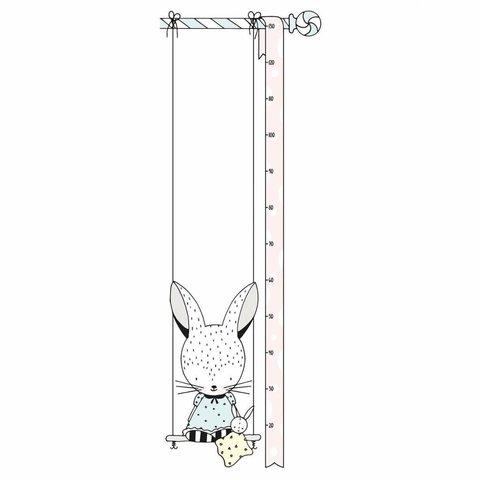 Lilipinso muursticker meetlat konijn