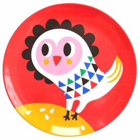 Petit Monkey Petit Monkey melamine bord uil rood