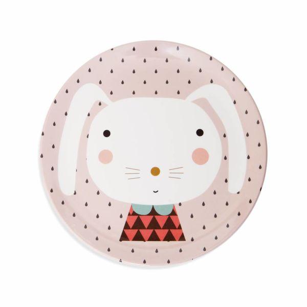 Petit Monkey Petit Monkey melamine kinderbord konijn drops