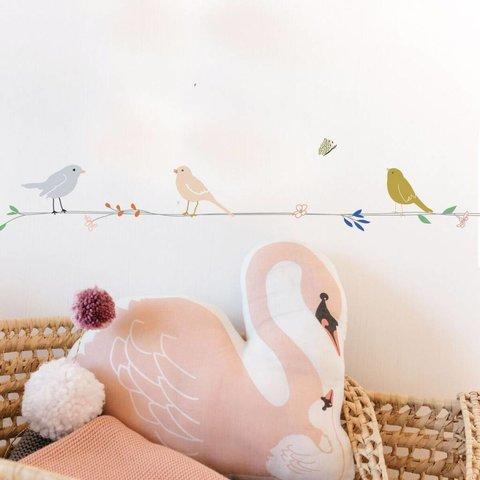 Mimilou muursticker vogels en bloemen