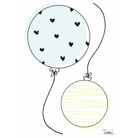 Lilipinso muursticker ballonnen