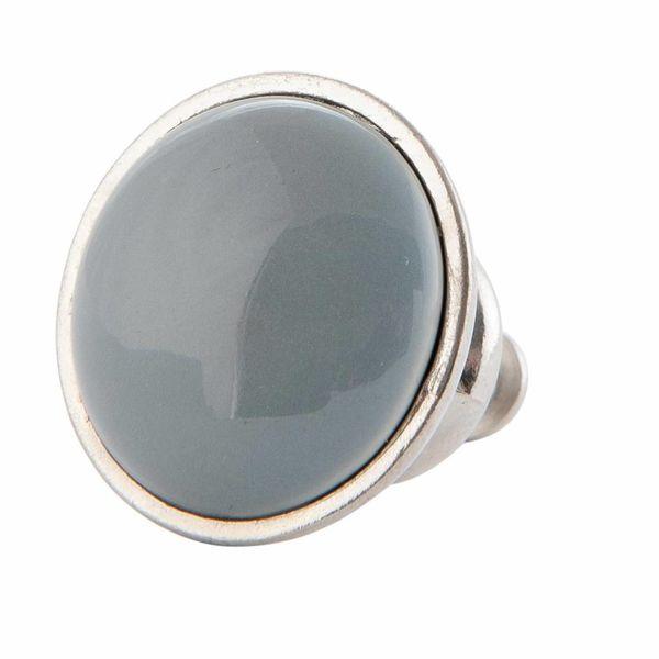 Clayre & Eef Deurknopje grijs met metalen frame