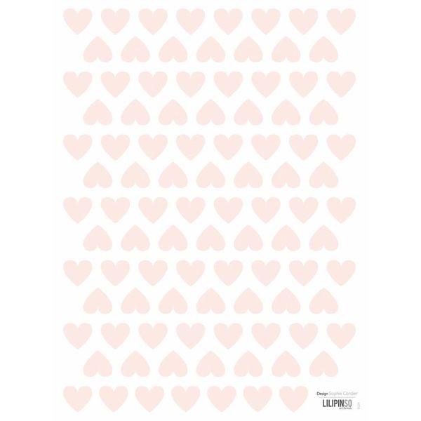 Lilipinso Lilipinso mini muursticker kinderkamer hartjes roze powder pink