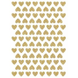 Lilipinso Lilipinso muurstickers mini hartjes glitter goud