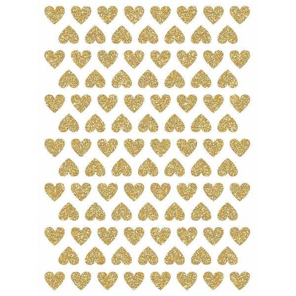 Lilipinso Lilipinso  muursticker kinderkamer mini hartjes goud