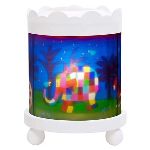Trousselier magische lamp  Elmer wit rond