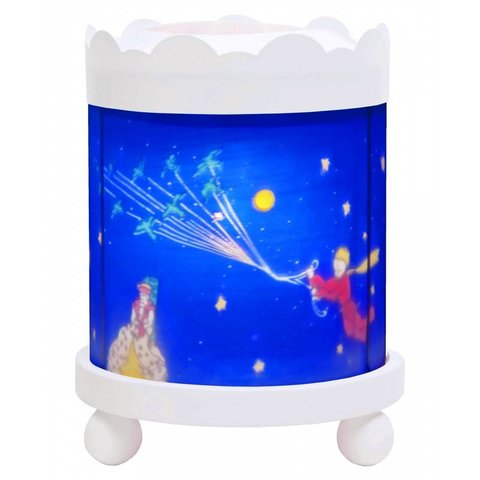 Trousselier magische lamp de kleine prins rond wit