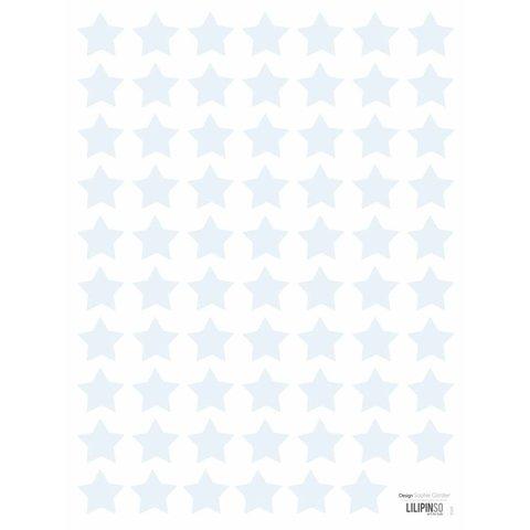 Lilipinso  muurstickers sterren mini  lichtblauw