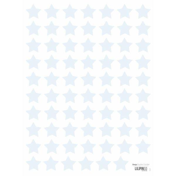 Lilipinso Lilipinso muurstickers kinderkamer sterren mini lichtblauw